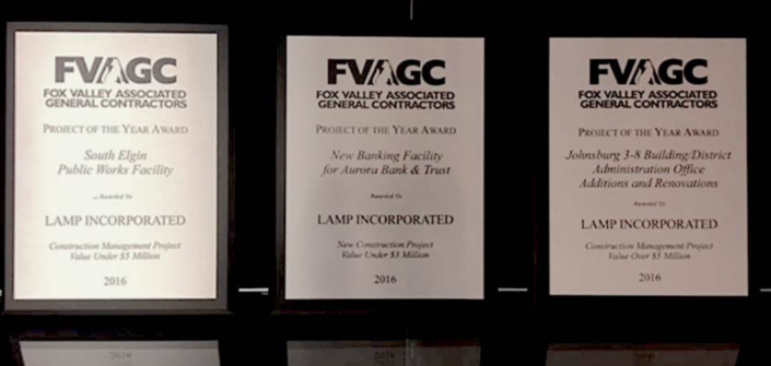 Fox Valley associated general contractors project of the year lamp incorporated