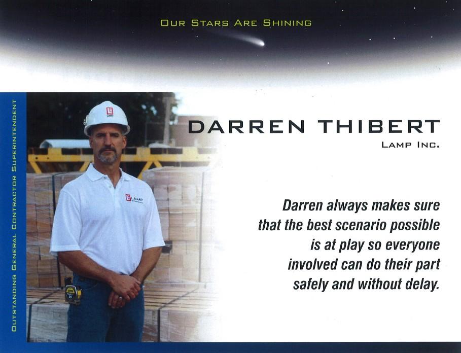 Darren Thibert ASA Outstanding General Contractor Superintendent for 2020